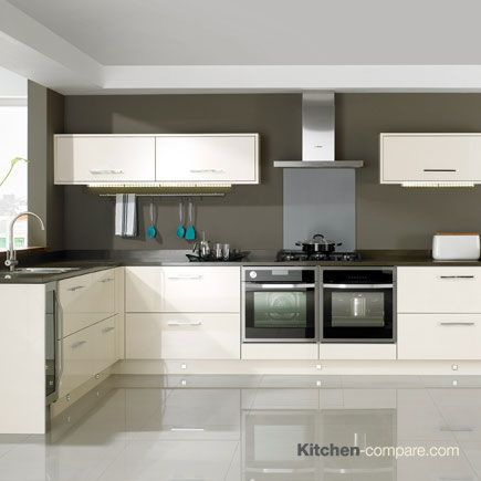 John Lewis - City Ivory Gloss. City is a contemporary kitchen available in a range of gloss, matt and matt wood effect colours. These can be used alone or mixed and matched for an individual look. Click here for more information - http://bit.ly/1V0wpkZ