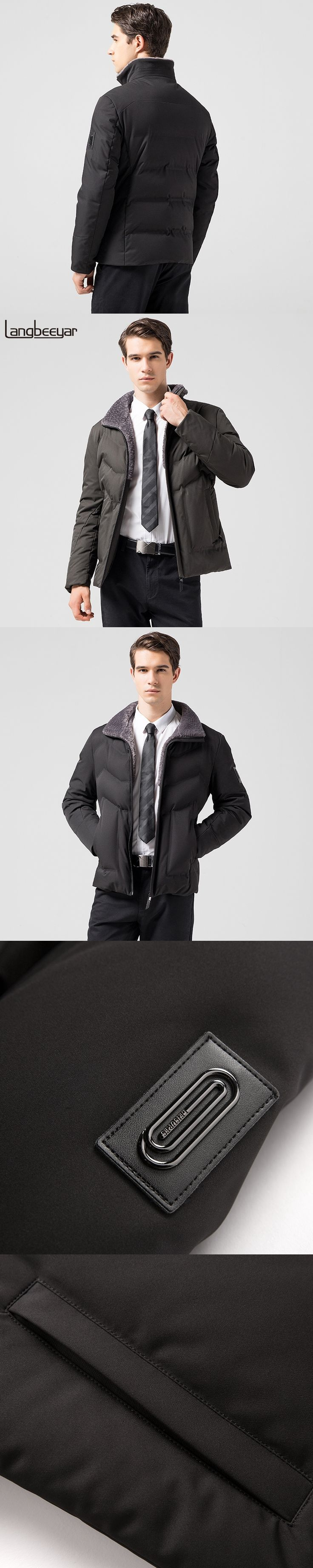 Top Grade New Fashion Duck Down Jacket Men Thick Mens Winter Parka With Fur Turn-down Collar Mens Winter Jackets And Coats