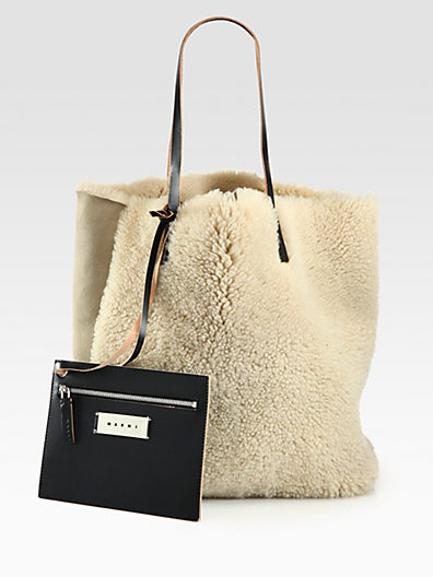 Marni - Shearling Tote - Saks.com omgosh $1383