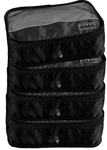Small Packing Cubes for Travel - Organizers for Clothes, Cosmetics, Electronics, Jewelry, Beauty Supplies, Makeup, Baby Toys, Toiletry, Air Travel Kit, Personal Accessories for Men, Women and Children - Fits in Most Travel Duffel Bag, Backpack, Luggage, Briefcase and Even Your Closet - Small Size Saves Space, Prevent Excess Baggage on Your Next European or International Flight (4-piece set, Black) Dot&Dot http://www.amazon.com/dp/B00JKI7FFG/ref=cm_sw_r_pi_dp_8qwzub06R731Y