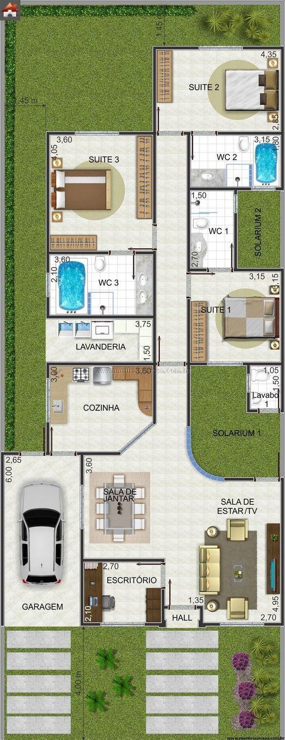 Casa 3 Quartos - 155.62m²: