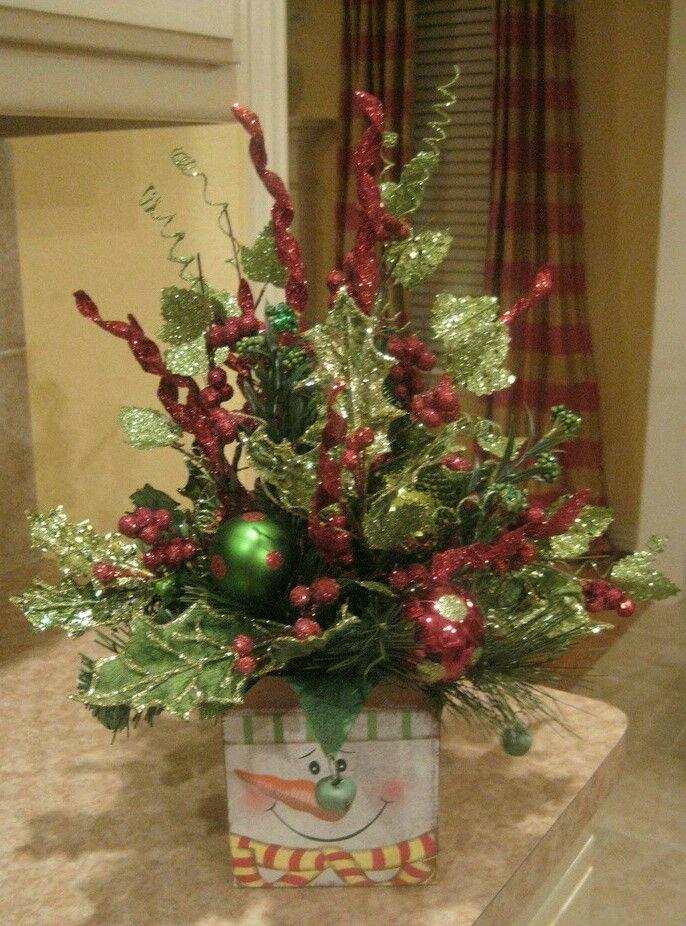 M s de 1000 ideas sobre arreglos florales navide os en - Ideas para arreglos navidenos ...