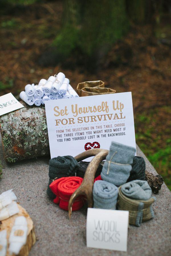 Favor: Lumberjack Survival Kit  {via Ruffled}