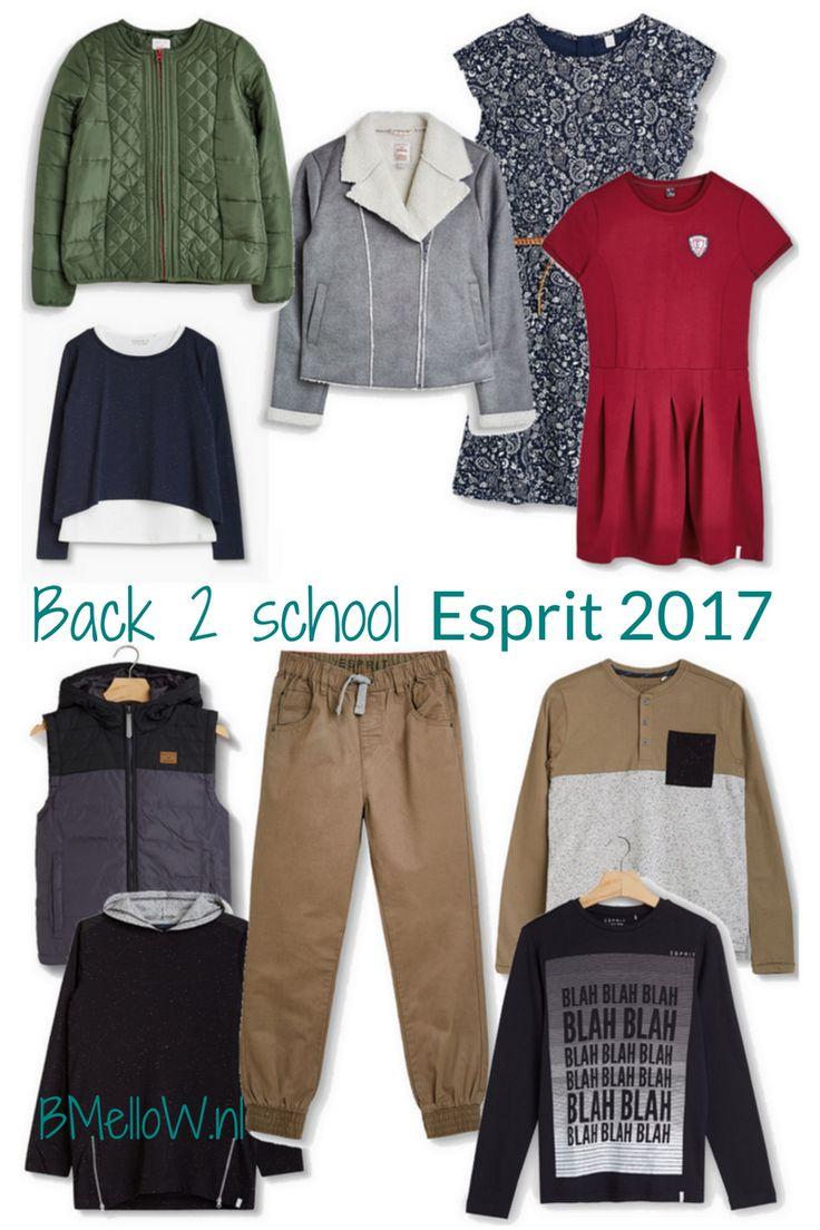 Back to school met de kindermode van Esprit 2017. youth meisjes en jongens BMelloW.nl