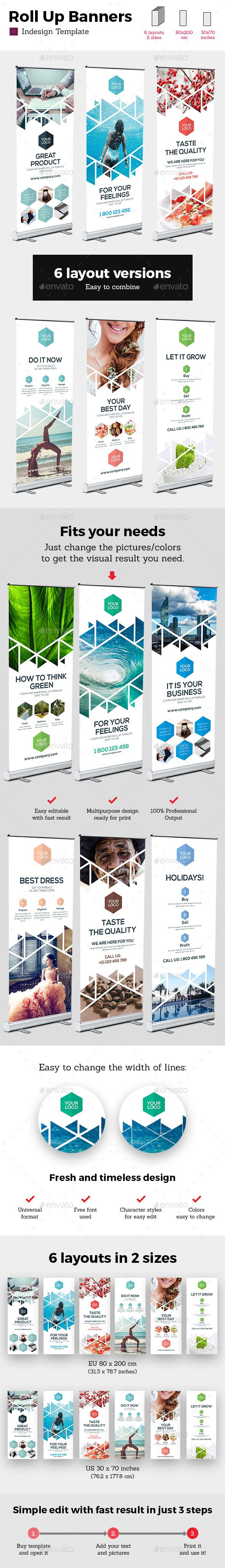 Rollup Stand Banner Display Triangles White 12x Indesign Template by petovexclusive Rollup Stand Banner Display Triangle White 12x Indesign Template Simple and modern multipurpose rollup banner stand indesign prin