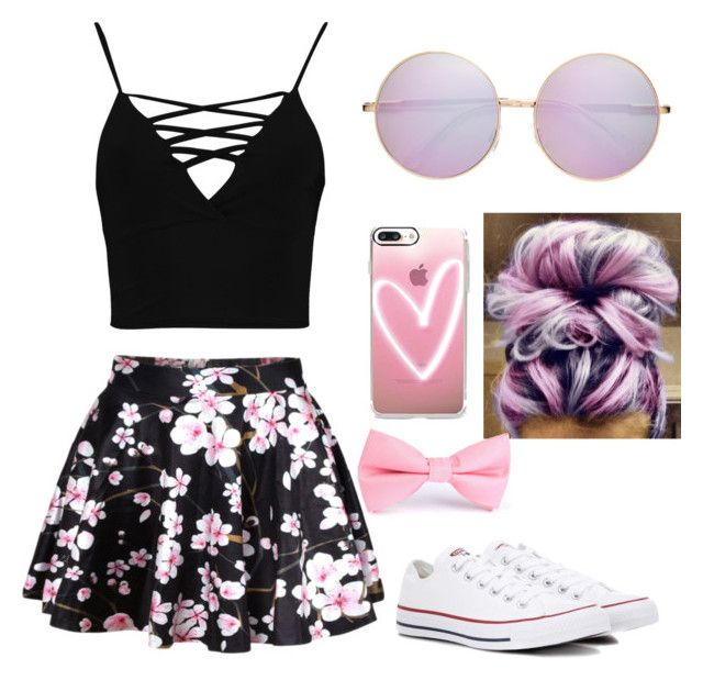 """""""Untitled #5"""" by j-j-j-j-j on Polyvore featuring WithChic, Boohoo, Casetify and Converse"""