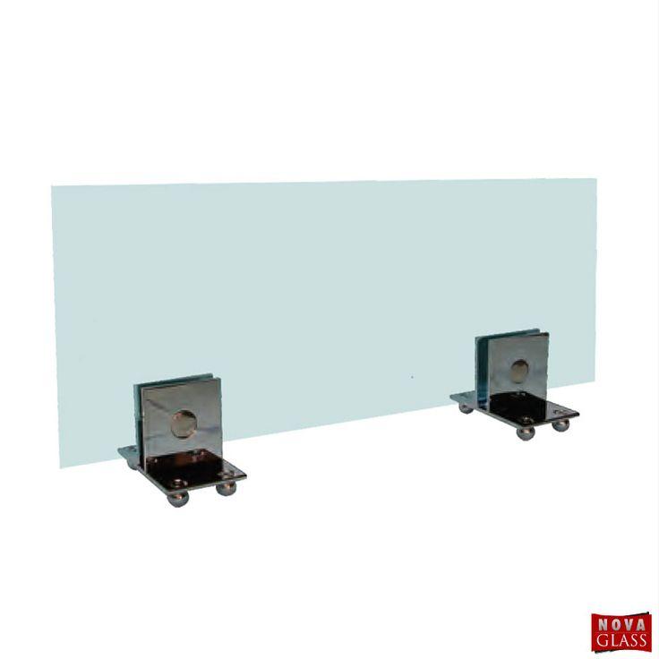 Μεταλλικό στήριγμα για κρύσταλλο τζακιού Κωδ. 3138 | Nova Glass e-shop