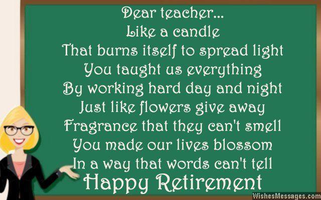 Retirement poems for teacher: Happy retirement poems for ...