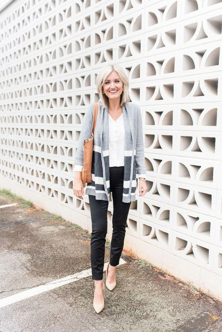 LOFT CYBER FALL EVENT – 50% OFF EVERYTHING – Loverly Grey, cardigan outfit, fall…