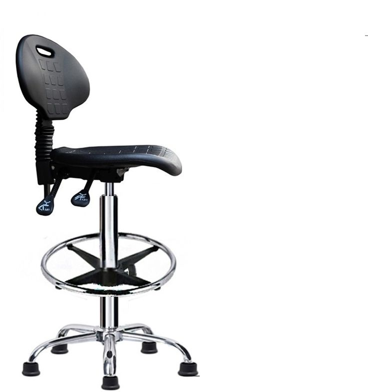 foot nail workshop lift rotation chair PU seat Laboratory chair testing workshop stool free shipping