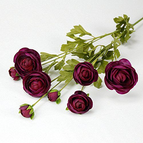 Amazon.com: Pumpumly 8 Heads Artificial Fake Camellia Silk Flowers Bridal Bouquet Wedding Home Decor Rose Red: Home & Kitchen