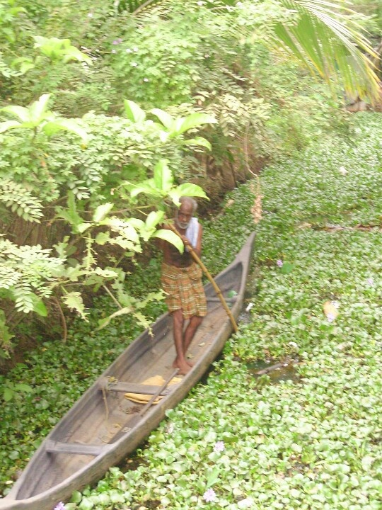 Man on Boat - Kerala