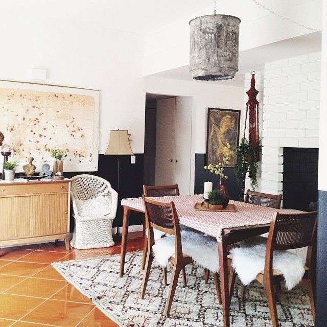 Mid-Century Modern, Bohemian Glamour Dining Room | B ...