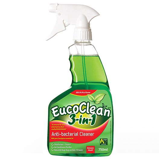 A natural and safe alternative to kill germs and bed bugs - .EucoClean 3-in-1 Eucalyptus Anti-Bacterial Cleaner 7