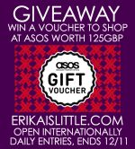 $250 ASOS Gift Voucher Giveaway  Open to: United States Canada Other Location Ending on: 11/12/2015
