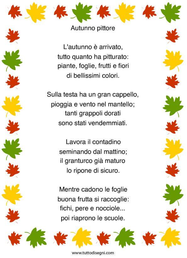 Poesia sull'autunno da stampare