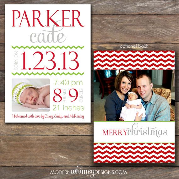 Best 25 Christmas birth announcements ideas – Holiday Baby Announcements
