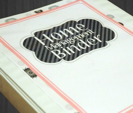 A lovely complete home management binder in black and white floral.  Very easy to use.  Everything is organized in one download.