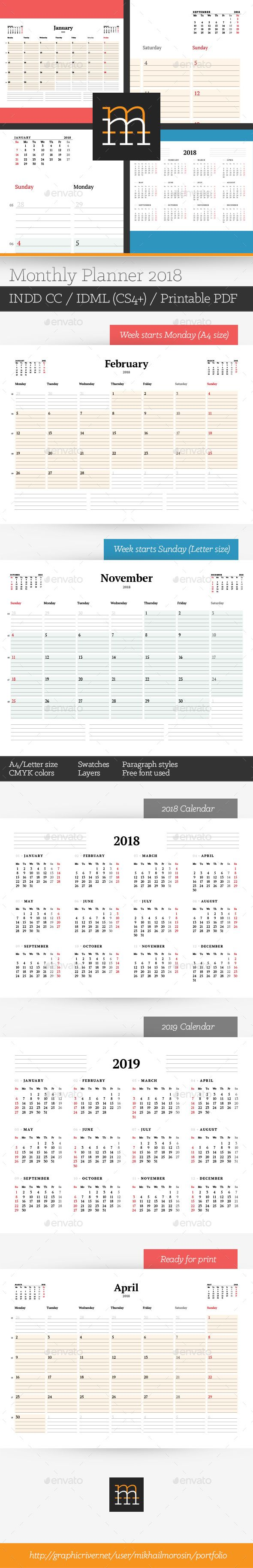 Weekly Calendar Indesign Template : Best ideas about monthly planner template on pinterest