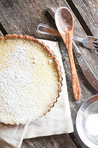 """** Citrus tart recipe - """"It has a delicious buttery shortbread crust and a tart but sweet lemon & lime curd-like filling. It's brightened up my day, for sure."""" {used only 4 eggs + leftover white; needs more filling next time}"""
