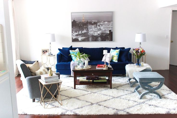 Spring Home Tour With Rugs Usa 39 S Moroccan Diamond Shag