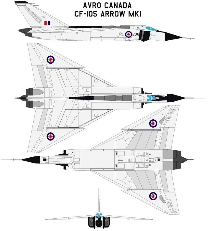 Avro Canada CF-105 Arrow MK1 by bagera3005.deviantart.com on @deviantART