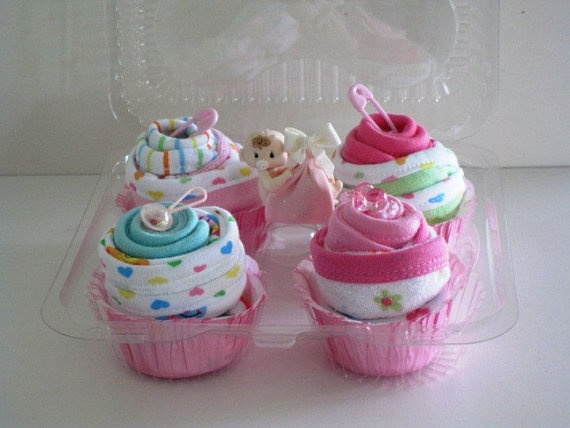 9-Piece Washcloth Cupcake Gift Set: Shower Ideas, Crafts Ideas, Gifts Ideas, Cupcakes Baby, Baby Gifts, Baby Shower Gifts, Washcloth Cupcakes, Gifts Sets, Cupcakes Gifts