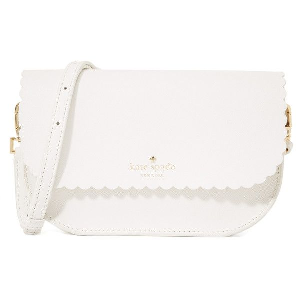 Kate Spade New York Jettie Cross Body Bag ($205) ❤ liked on Polyvore featuring bags, handbags, shoulder bags, crossbody handbags, leather purse, kate spade purses, white leather shoulder bag and kate spade handbag
