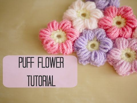 How to Crochet a Puff Stitch Flower - YouTube