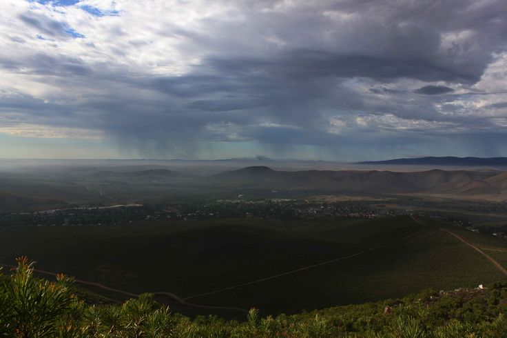 Rainstorms toward Overstrand. From Greyton, Rivierzonderend. 6 Feb 2012. by Mike Ohlson de Fine