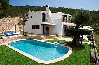 Sleeps 8 (4 Bedrooms)  As soon as you enter the door, this villa makes you feel as your second home. The villa is stylishly decorated and fully equipped with including air-conditioning, central heating and Wi-Fi. There is a pool set in a stunning outside area with bBQ,   http://ibizainside.com/service/villas/villa-mv8.html