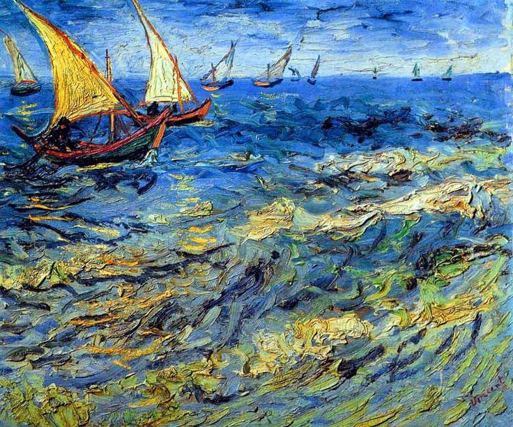 Vincent Van Gogh - Post Impressionism - Arles - Saintes-Maries - La petite Marine