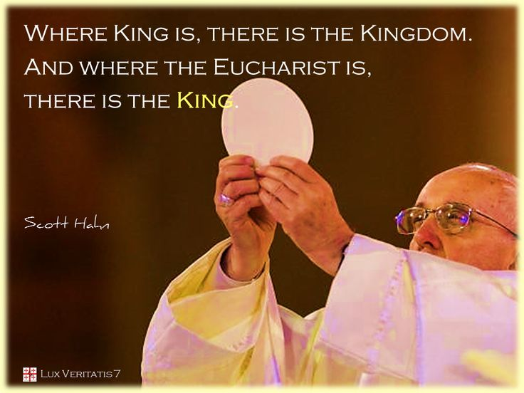"""Dimana ada raja, disana ada kerajaan. Dimana ada Ekaristi, disana ada Sang Raja"""