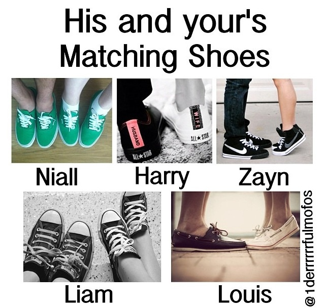 Awww....I love all of them...now this...makes me want a boyfriend so we can buy matching shoes!!!