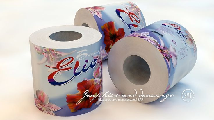 Упаковка: Дизайн упаковки туалетной бумаги, гигиенических салфеток, бумажных полотенец.