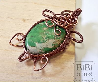 turtle wire wrapping pendant