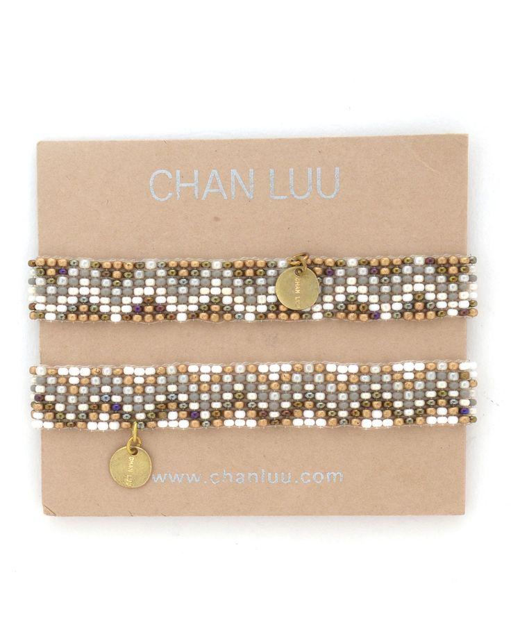 Chan Luu Chevron Bead Double Strand Bracelet