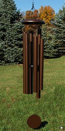 "Our largest wind chime, the 78"" T936 weighs 45 pounds and is tuned to the key of D#.  Available in Green and Copper Vein."