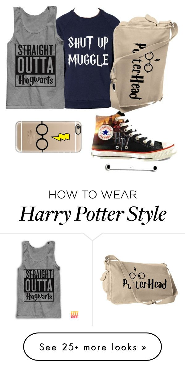 """#HARRY_POTTER_FAN"" by bls161324 on Polyvore featuring Converse and Casetify"