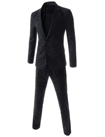 The Black Camo Single Breasted Suit