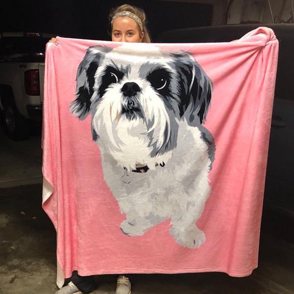 Custom Pet Fleece Blanket Fleece Dog Bed Dog Blanket Customized Blankets
