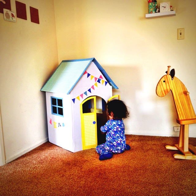 Cardboard house DIY for my daughter. She loves it :): Cardboard House, Plays Ideas, 640640 Pixel