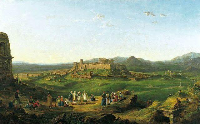 Richard Bnks Harraden .1828.Η Ακρόπολη από τον λόφο των Μουσών,Συλλογή Βουλής των Ελλήνων.