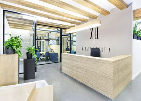 Zapata y Herrera lawyers' office by Masquespacio.  Like no lawyers office - ahem - that I have been in.