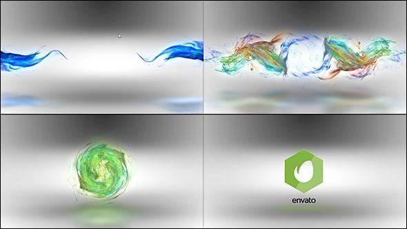 Color Particles Flow Logo Reveal