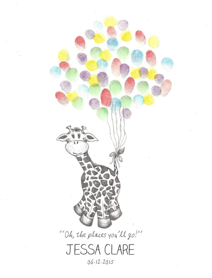 Giraffe being lifted by bundle of Balloons by PTWatersDesigns