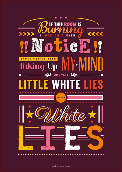little white lies // one direction