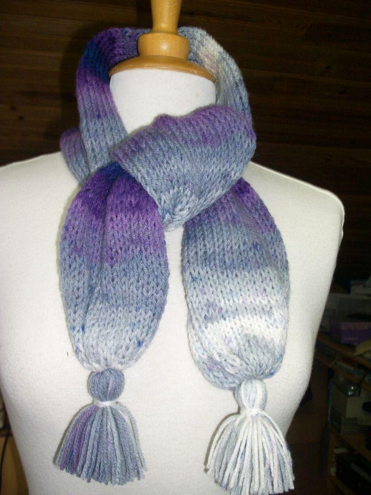 Écharpe de tricot, travaille tubulaire longueure 1,20 mètre : Echarpe, foulard, cravate par atelier-g