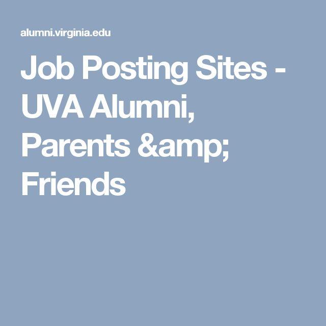Job Posting Sites - UVA Alumni, Parents & Friends
