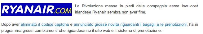 Continuano le novità Ryanair: previsti grossi miglioramenti al sito web e alle prenotazioni
